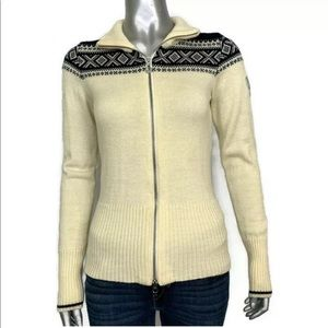 Dale of Norway Wool Zip Up Cardigan Sweater XS